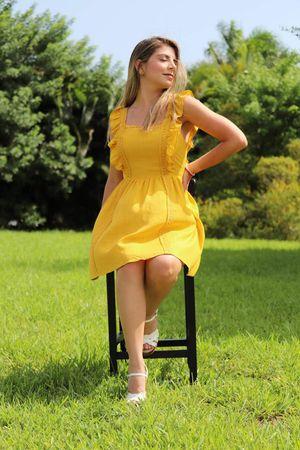 Pompano Beach Dress - Yellow   Velvety Boutique for Sale in Miramar, FL