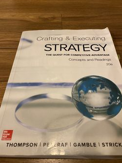 crafting & executing strategy concepts and cases 20e Book for Sale in Portland,  OR