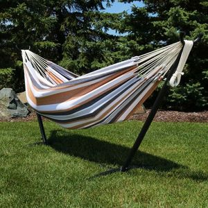 NEW $70 each 110 inches long 450 lbs capacity double hammock with metal stand included Hamaca for Sale in West Covina, CA