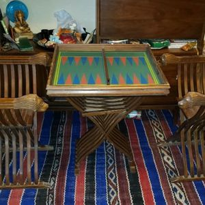 Table And Chair Set Backgammon for Sale in Albuquerque, NM