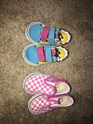 Size 3&4 Vans For Girl for Sale in Tampa, FL