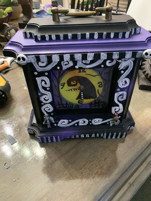 Nightmare Before Christmas mantle clock hand painted for Sale in Lewisville, TX