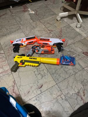4 nerf guns and lots of bullets for Sale in Los Angeles, CA
