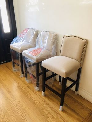 "3 Camelot Nailhead Trim Barstool hardwood 28"" for Sale in Lake View Terrace, CA"