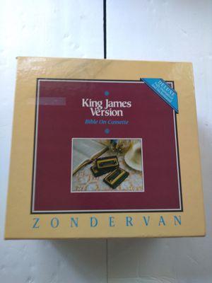 King James Version Bible on Cassette Zondervan 48 Tapes for Sale in Hapeville, GA