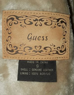 Guess Winter Coat/Color- BEIGE SUEDE LEATHER Gorgeous! for Sale in Garden Grove, CA