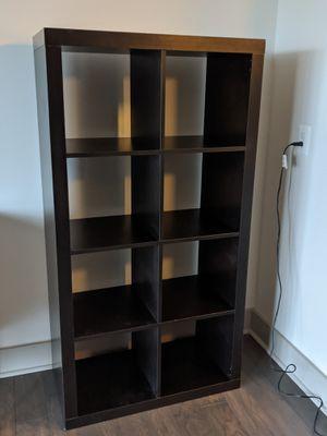 Ikea Kallax brown-black bookshelf (2 available) for Sale in Tysons, VA