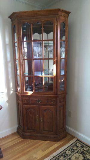 Corner china cabinet for Sale in Arlington, VA
