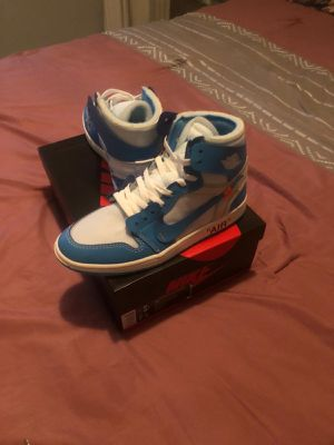 UNC Off White Air Jordan 1 size 8 and 9 for Sale in Vista, CA