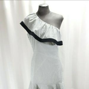 Lucy Paris Size Small Dakota Striped One Shoulder Dress NWOT for Sale in Redmond, WA