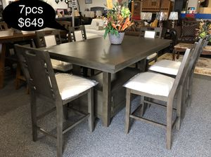 New big solid dining table set with storage for Sale in Fresno, CA