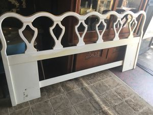 """French provincial bedframe 81"""" wide $25 purchase today for Sale in San Diego, CA"""
