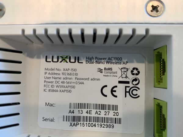 Luxul home WiFi mesh with POE AP and injector and 8 port gigabit switch