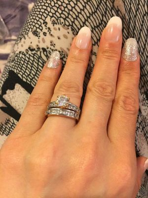 18K Yellow Gold plated Engagement/Promise / Wedding Ring Set for Sale in Dallas, TX