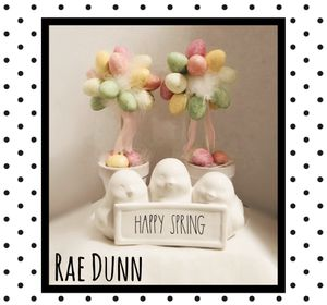 Rae Dunn Happy Spring chicks & Easter topiary for Sale in Stoneham, MA