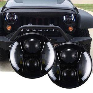 "Firebug Jeep 7"" Wrangler LED Headlights, Halo Angel Eyes Headlights JK, 07-2017 (sulight-USA) for Sale in Riverside, CA"