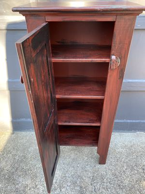 Pie Safe Storage Cabinet, four shelves, pine wood for Sale in Wareham, MA