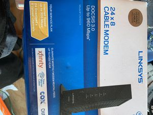 Cable modem linksys for Sale in Baltimore, MD