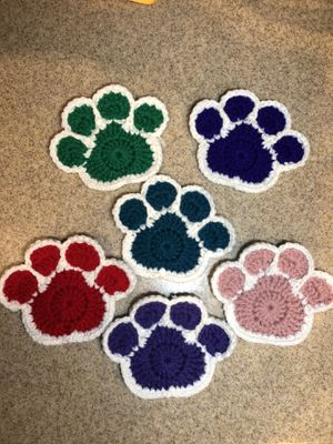 Hand made 6 Cute Animals paws 🐾 Coasters for Sale in Wake Forest, NC