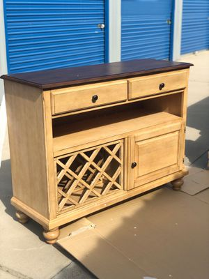 Brand new pecan wood sideboard server wine cabinet. Retails for over $800 for Sale in Fowler, CA