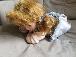 Antique laying down on her stomach glass doll for Sale in Mount Hope, KS