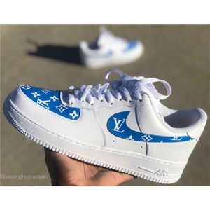 Size 12 Louis Vuitton Air Force 1 customs for Sale in Katy, TX