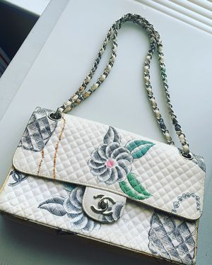Auth. Quilted Cloth Chanel Bag for Sale in Greenbelt, MD