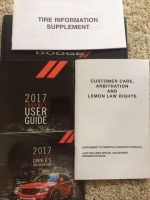 2017 Dodge Journey Manual Set for Sale in Arlington, VA
