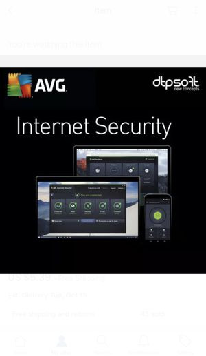 AVG Internet Security 2019 1 PC/ 1 Device - 1 YEAR License US for Sale in Beverly Hills, CA