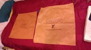 Louis Vuitton drawstring dust bags large and medium for Sale in Riviera Beach, FL