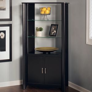 Tall Media Storage Cabinet W/ Shelves And Doors, Black for Sale in Jersey City, NJ