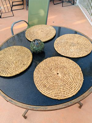 "Bamboo Round Placemats 4 ✅. 15"" X 15"" for Sale in Downey, CA"
