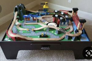 Train table with tracks and trains for Sale in New Port Richey, FL
