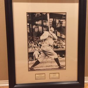 "Babe Ruth Photograph - Beautifully Framed/Includes Short Bio And Stats 42""H X 33"" W for Sale in Trabuco Canyon, CA"