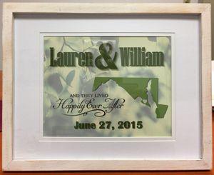 Custom Framed Wedding/Anniversary/Family Framed 8x10 Art Print for Sale in Alexandria, VA