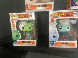 Whis and zamasu pop figures for Sale in Coral Gables, FL