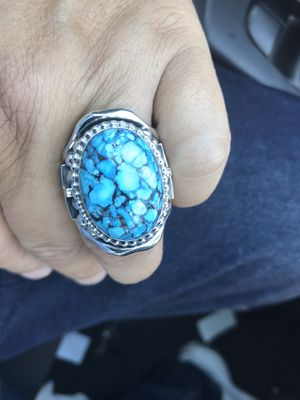 Brand new big and beautiful one-of-a-kind Sterling silver .925 & spider Turquoise ring size is 12 1st $375 Takes for Sale in Las Vegas, NV
