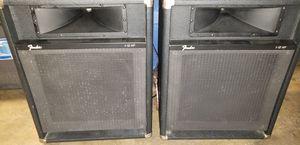 Pair fender speakers for Sale in Stockton, CA