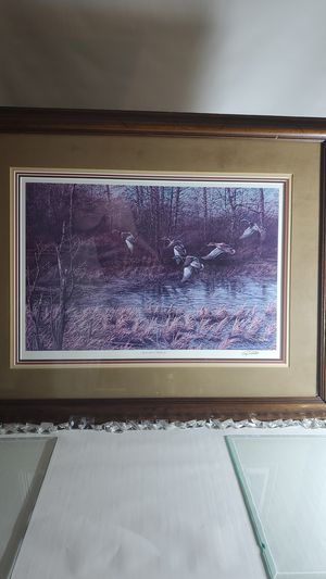 Sighned Terry Redlin Apple River Mallards picture... for Sale in Rosemount, MN