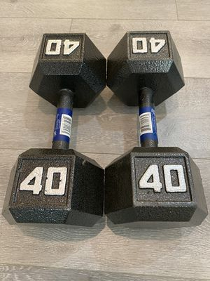 40LB Iron Hex Dumbbells (Brand New) for Sale in Irvine, CA