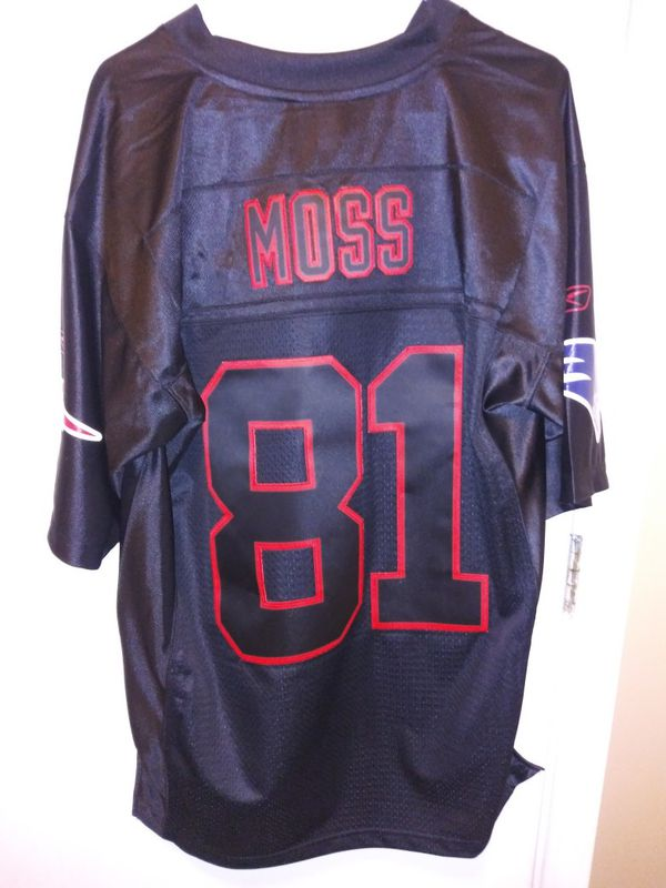 Randy Moss Black Patriots Jersey