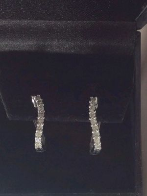 14k white gold diamond earrings .40cttw for Sale in Tewksbury, MA