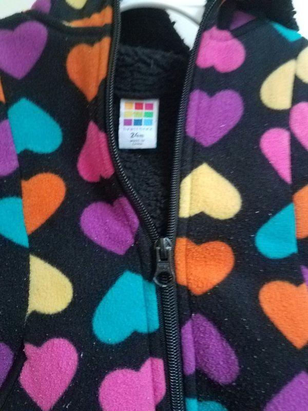 Warm sherpa fleece lined jacket size 24m - $10