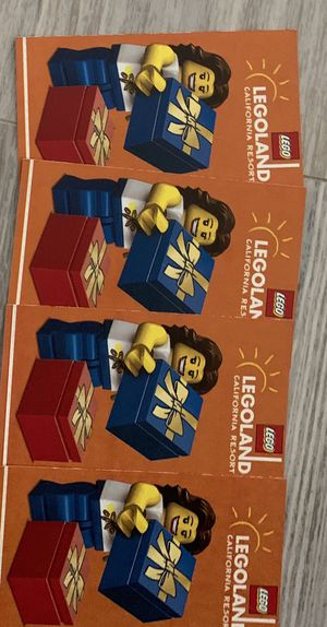 Legoland California Tickets Lago tickets for Sale in Foster City, CA