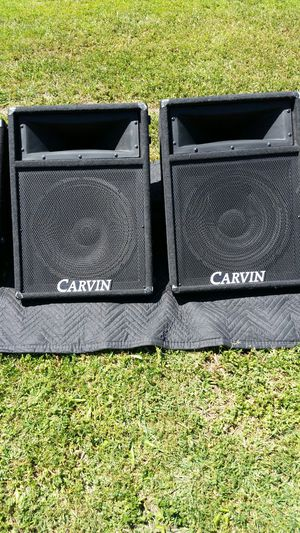 15 inch carvin concert speakers $300 they sound really loud and amazing for Sale in Stockton, CA