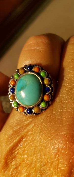Southwest Sterling Silver Turquoise Ring for Sale in Lakeland, FL