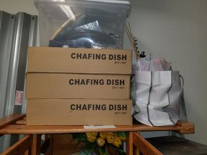 Chafing dish set of three for Sale in Homestead, FL