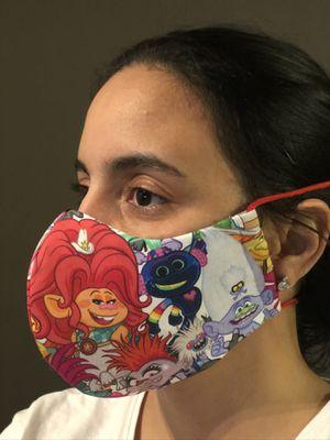 Handmade Masks Disney Trolls . 100% Cotton. Reusable. 3M Filter. 5 Layers. for Sale in Orlando, FL