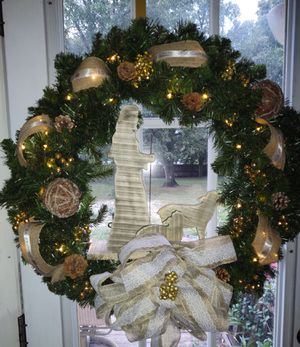 Oh holy night Christmas wreath for Sale in Auburndale, FL