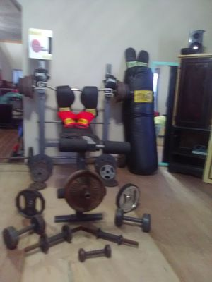 Weight bench and more for Sale in Sheridan, MI